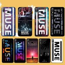 PENGHUWAN Tumblr Muse Logo Bling étui de téléphone mignon pour Samsung A10 A20 A30 A40 A50 A70 A71 A51 A6 A8 2018