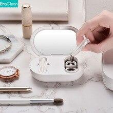 Eraclean-máquina de limpieza ultrasónica para lentes de contacto, limpiador portátil recargable por USB, lavable, vibración de alta frecuencia, 56000Hz