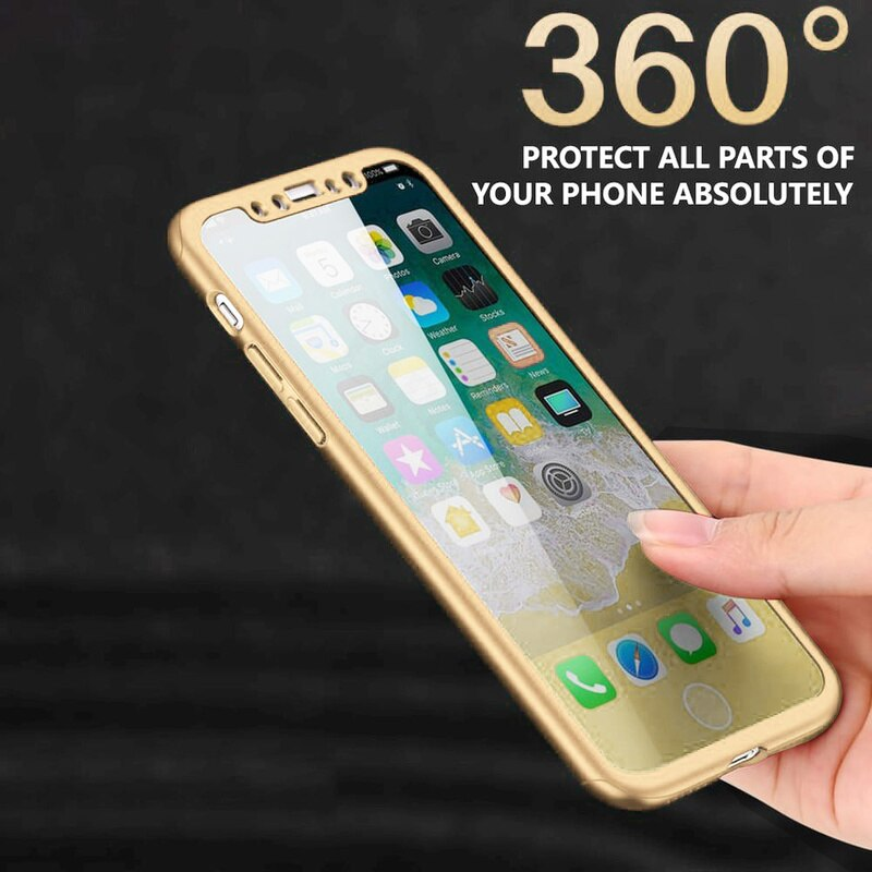 360 funda completa antigolpes para IPhone SE 2020 11 Pro Max XR XS Max 8 7 6S Plus 5C 5S PC funda trasera para teléfono + 9H vidrio protector