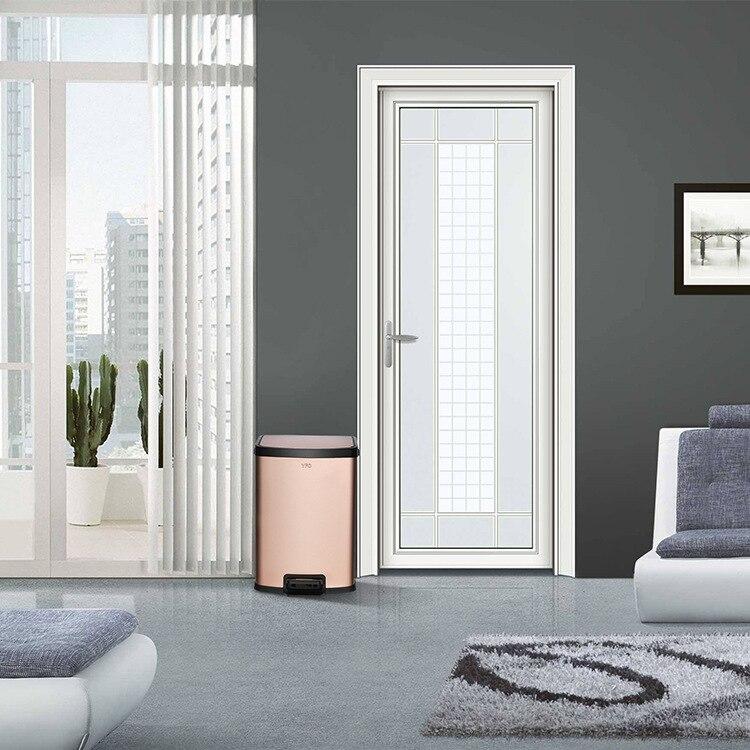 Nordic Bedroom Trash Bin Modern Luxury Stainless Steel Kitchen Trash Can Room Accessories Decoration Bote De Basura Storage BC50 enlarge