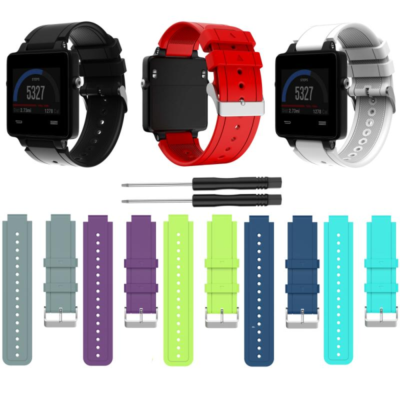 1pcs Colorful Soft Silicone Sport Watch Band Replacement Strap For Garmin Vivoactive 3/Vivoactive 3 Music/Forerunner 645