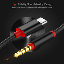 Type C USB-C to 3.5mm Male Audio AUX Cable Adapter For Car Stereo Audio Speaker Mobile Phone