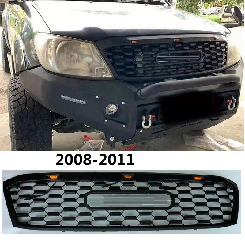 2008-2011 Hilux Vigo Front Racing Grills Grill Fit For Hilux Vigo Surf Auto Exterior Accessories 2008-11 Car Parts