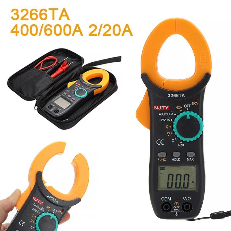 1 set Durable Mini Digital Clamp Tester CA/CC Volt Amp multímetro Auto rango de corriente 600A instrumentos eléctricos