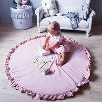 Toddler Kids Crawling Blanket Round Carpet Rug Toys Mat Cotton Children Room Decor Photo Props Cartoon Animals Baby Play Mat Pad