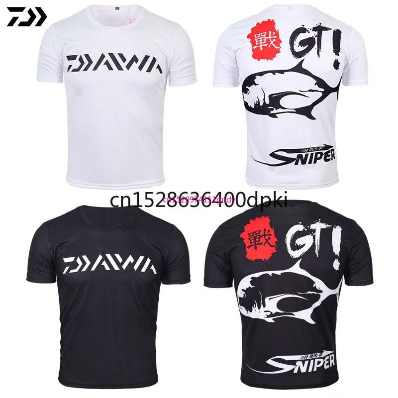 DAIWA DAWA 2021 Fishing Clothing Summer Short Sleeve Deep Sea Sunscreen Breathable Clothes Anti-UV Ultrathin Fishing Shirt