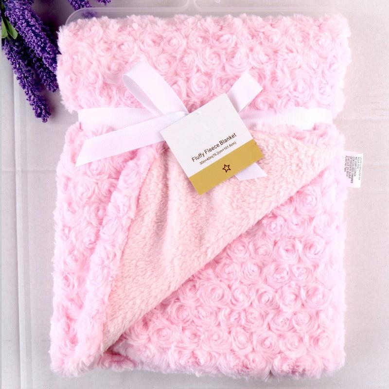 Coral Fleece Blanket Fashion Brand Winter Newborn Swaddle Wrap Soft Baby Boys Bedding Infant Bebe Girls Anais Sleeping Bags