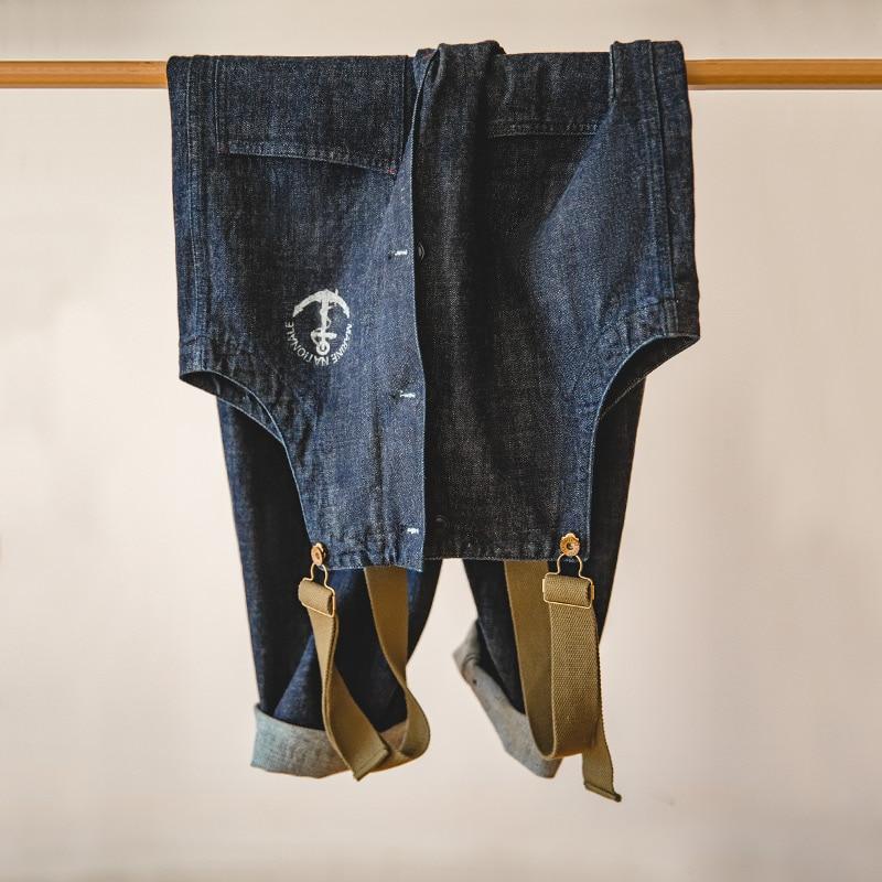 Мужской джинсовый комбинезон Marden, винтажный джинсовый комбинезон темно-синего цвета с прямыми штанинами, весна-осень 2019