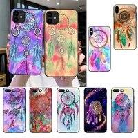 dream catcher watercolor dreamcatcher phone case for iphone se2 11 pro xs max xs xr 8 7 6 plus 5 5s se 12 mini 12promax