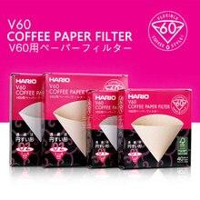 Hario-filtre à café V60 01 02 comptes   Café expresso, filtre en papier naturel, 4 tasses, Barista, filtre à café goutte deau, importé du japon