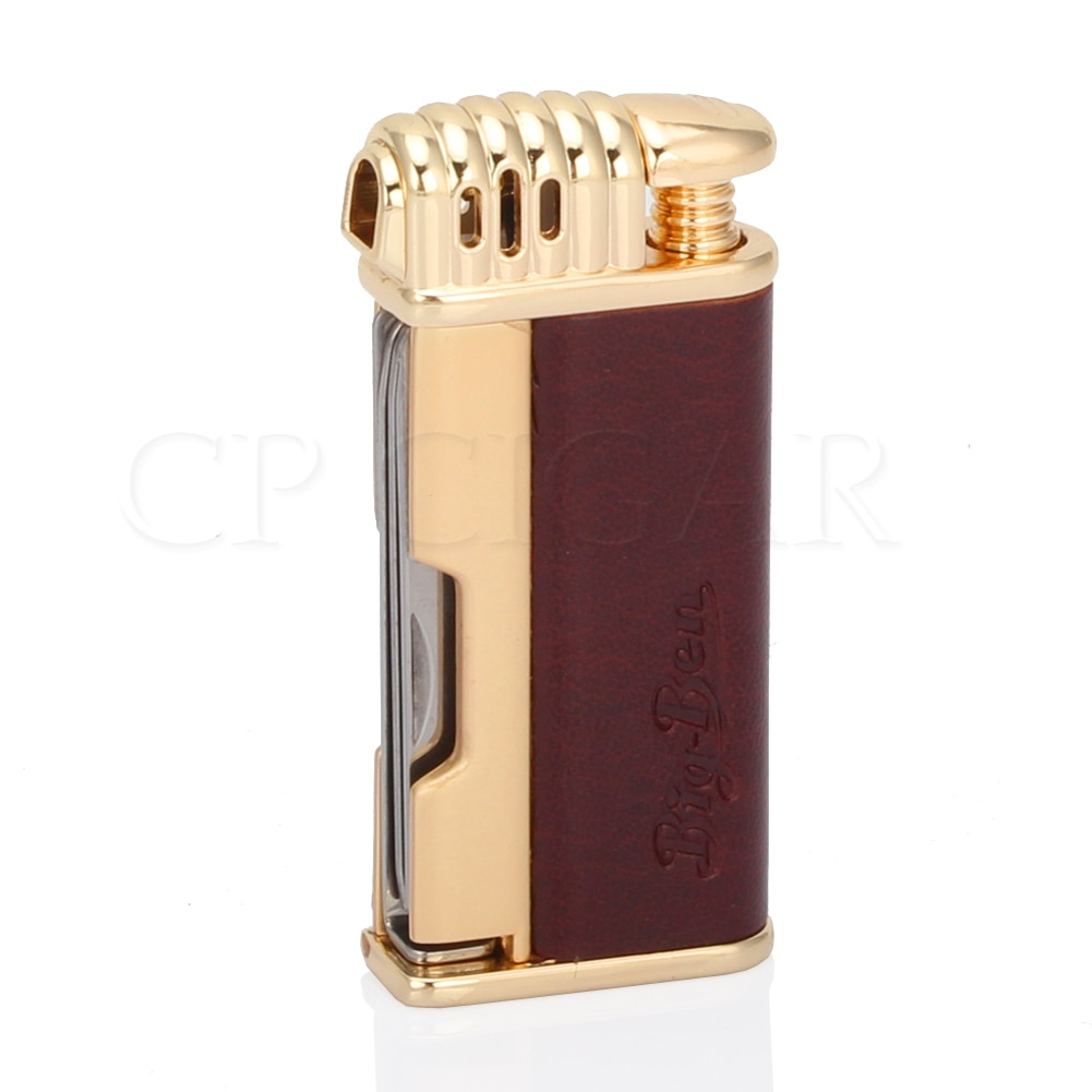 GALINER 1 Jet Flame Cigar Lighter Windproof Metal Cigarette Torch Lighters Butane Gas Lighter Built-in Cigar Cutter Knife