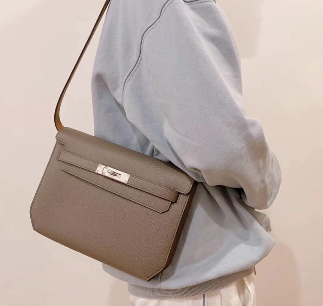 العلامة التجارية Despech محفظة ، حقيبة يد فاخرة ، 25 سنتيمتر ، Epsom الجلود ، جودة اليدوية ، الشمع Lline خياطة ، وسرعة التسليم