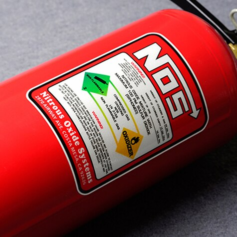 Estilo do carro fita de vinil motocross bicicleta extintor incêndio adesivo decalques reflexivo 3m para nos óxido nitroso sistemas oxidizer