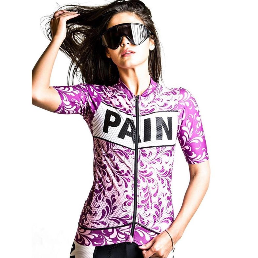 Maillot de Ciclismo de manga corta para mujer, ropa de bicicleta, camiseta...
