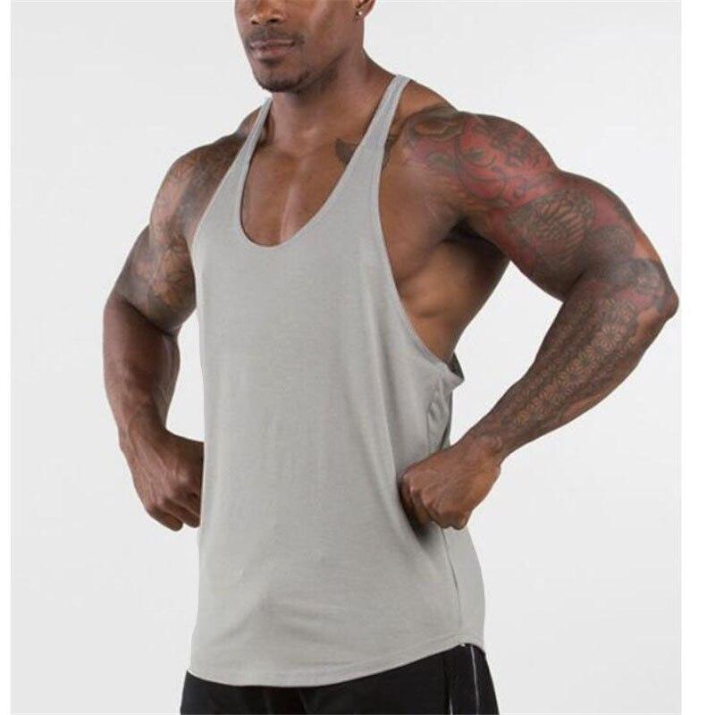 Fitness Y volver camisetas Tank Top chaleco musculación Stringer músculo tanque Sexy...