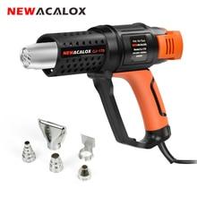 NEWACALOX pistolet à Air chaud de qualité industrielle EU 2000W 220V 4 buse température réglable ménage rétrécissement thermique ramollissement
