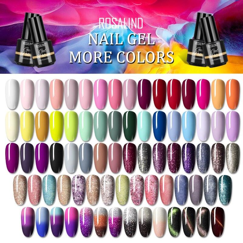 ROSALIND Gel Polish 7ML Semi-Permanent Gel Nail Polish Colorful Colors UV Soak Off Hybrid Varnishes