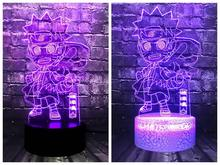 RGB Luster Lover Boyfriend Japan Anime Cartoon 3D LED Night light Vortex Naruto Baby Room Sleep Mood Lava Holiday Gift Free Ship