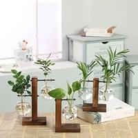 hydroponic vase desktop plant terrarium planter bulb glass vase water planting stations home decoration w0