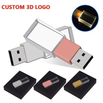 USB 2.0 High speed Flash Drive 16GB 32GB 64GB 128GB Pen Drive U Disk USB drive Crystal Memory Stick Real capacity Pen drive