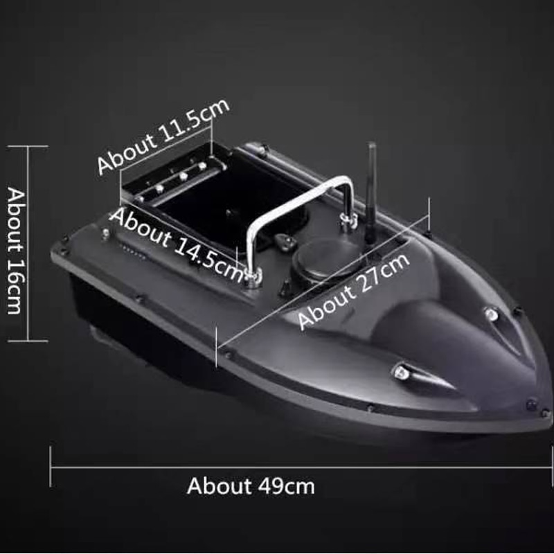 2021New Fixed Speed Cruise Remote Control Fishing Finder Boat 500M Dual Night Light Lure Fishing Smart RC Bait Boat Accessories enlarge