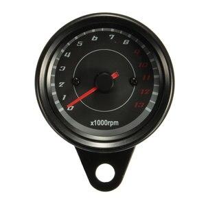 Тахометр и одометр для мотоцикла, Универсальный измеритель оборотов в минуту, 67 мм, 0 -13000 об/мин, с черной, синей, Красной светодиодной подсве...