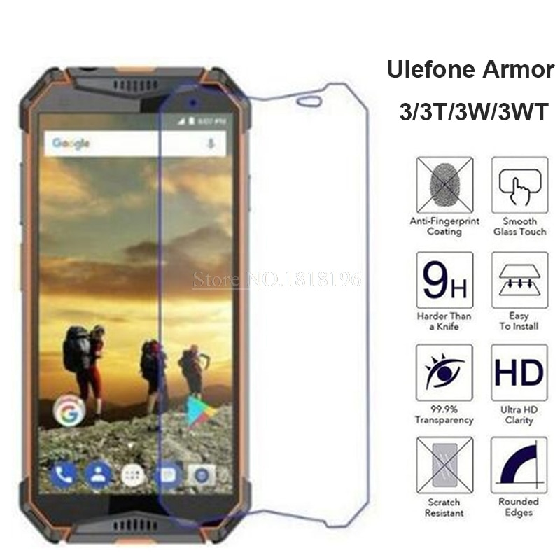 Tempered Glass For Ulefone Armor 3 3T Screen Protector Anti-scratch Mobile Phone Film For Ulefone Armor 3W 3WT Case Glass Cover