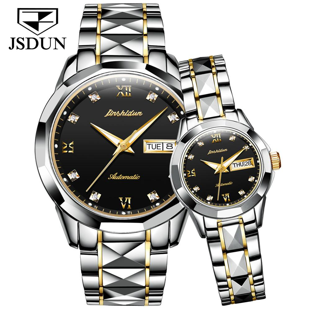 JSDUN Luxury Brand Mechanical Watches Couple Automatic Watch Waterproof Classic Men's And Women's Gift Watches