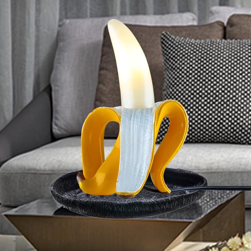 Desk Lamp  Led Bedroom Bedside Living Room Glass Modern Italy Home Decor Lighting Fixtures Table Lamp Fruits Banana Night Lights enlarge