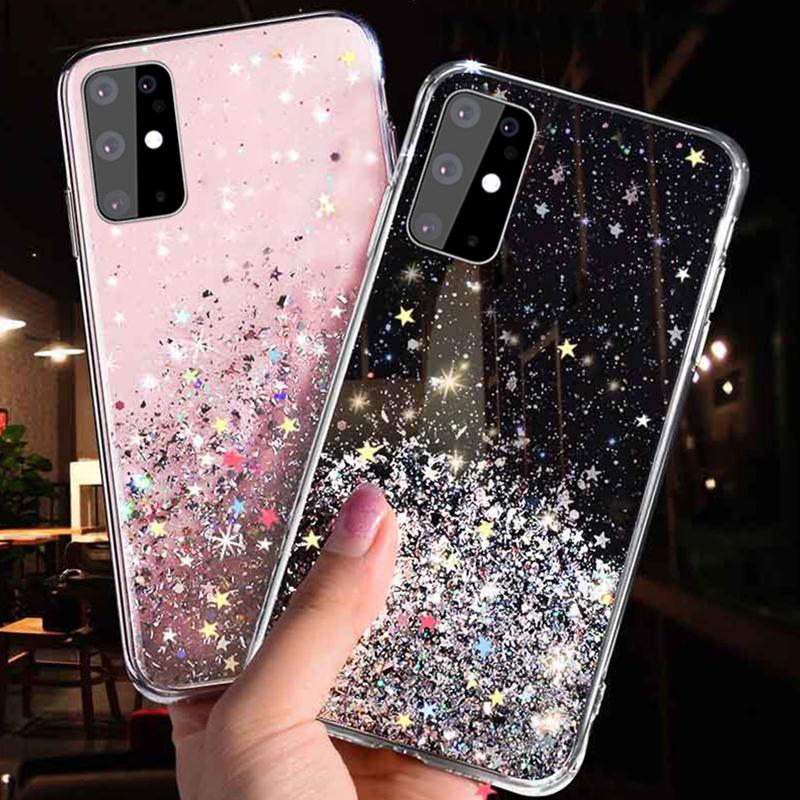 Estrella Brillante caja del teléfono para Samsung Galaxy Note 8 9 10 S10 Lite 2020 S20 Ultra S10E S9 S8 más A71 A51 A30 A40 A50 A60 A70 cubierta