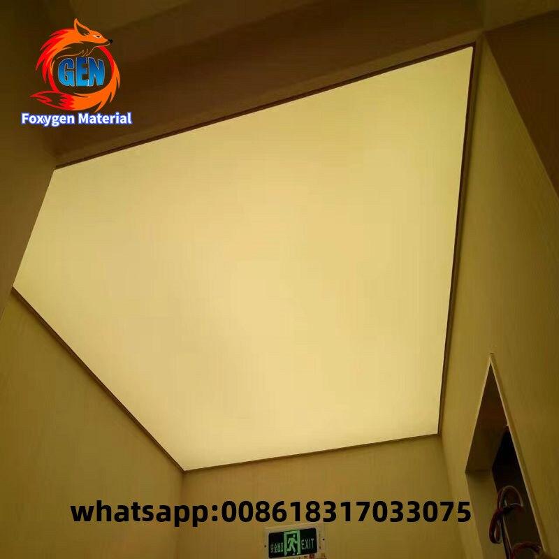 2017 Nuevo sistema de techo elástico de pvc caliente lámina decorativa para techo