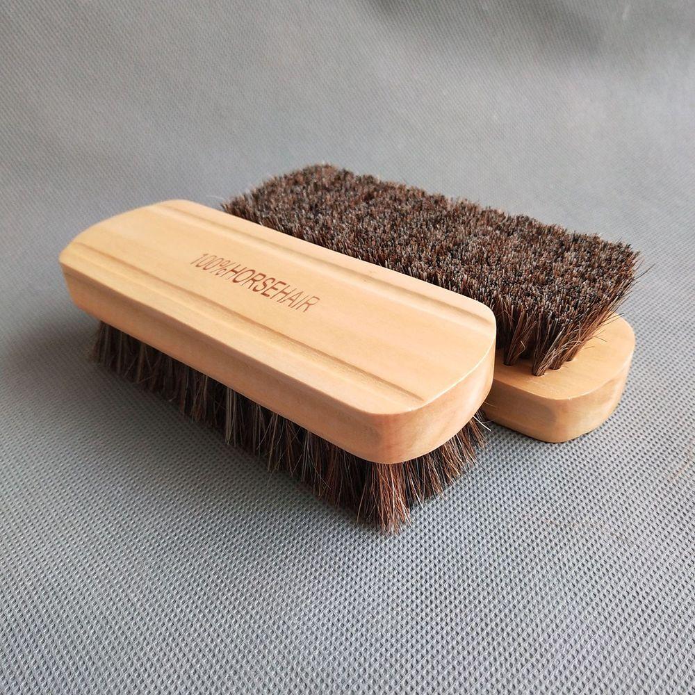 Щетка из натурального конского волоса, деревянная щетка для чистки автомобиля, полировки, полировки, Ручка сиденья, приборной панели, щетка ...