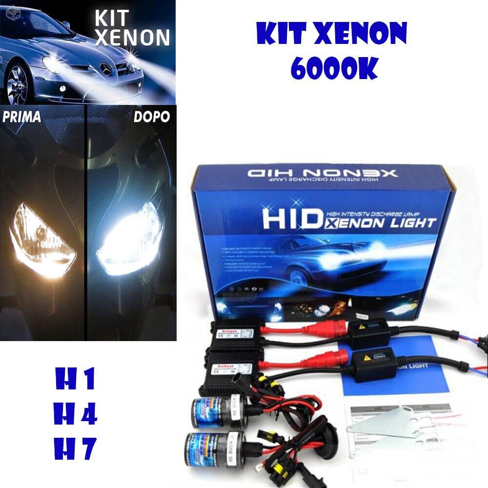LASTRO ESCONDEU KIT XENON CENTRALINE LUCI FARI XENO H7 6000K 35W AUTO MOTO