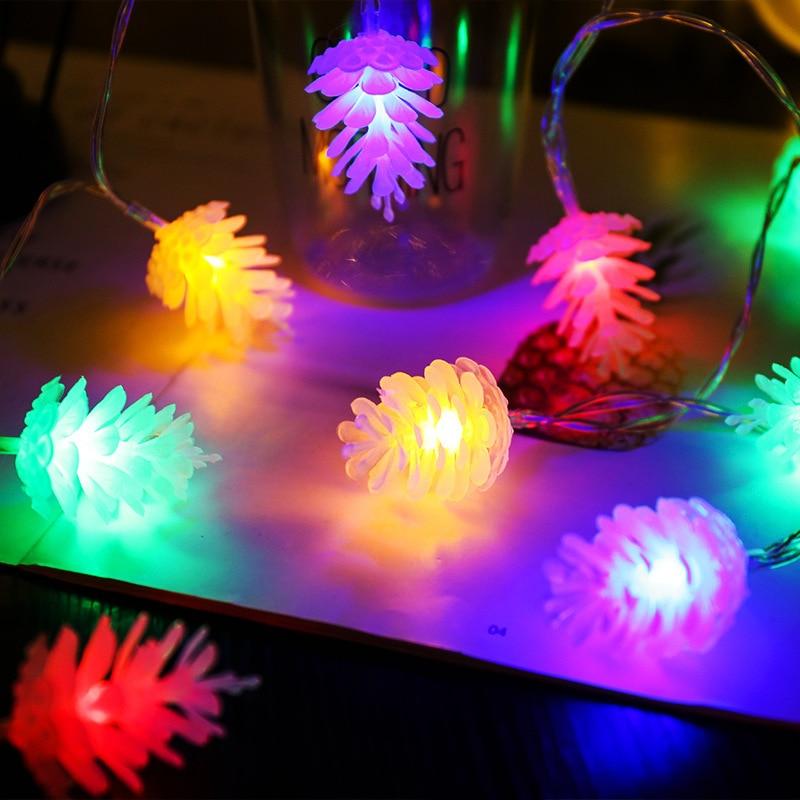 String Lights LED Christmas Pine Cone Light Curtain Light Indoor Outdoor Wedding Windows Christmas Decoration Holiday Light 1pc