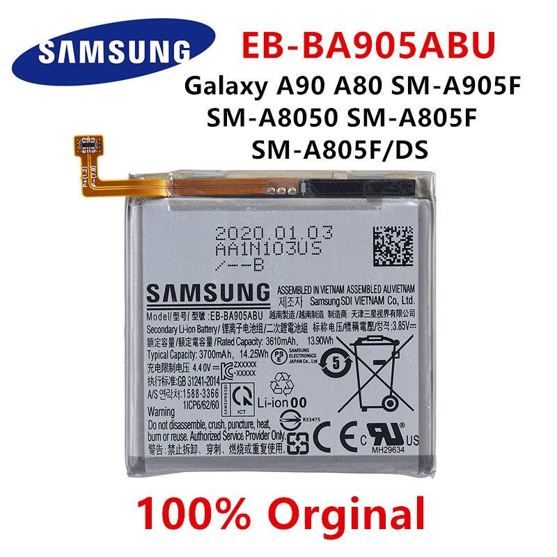 SAMSUNG оригинальная EB-BA905ABU 3700 мА/ч, батарея для Samsung Galaxy A90 A80 SM-A905F SM-A8050 SM-A805F SM-A805F/DS батареи