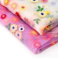 xugar 95145cm gauze fabric sheets flowers cloth organza fabrics diy bows craft home textile party decor dress apparel sewing