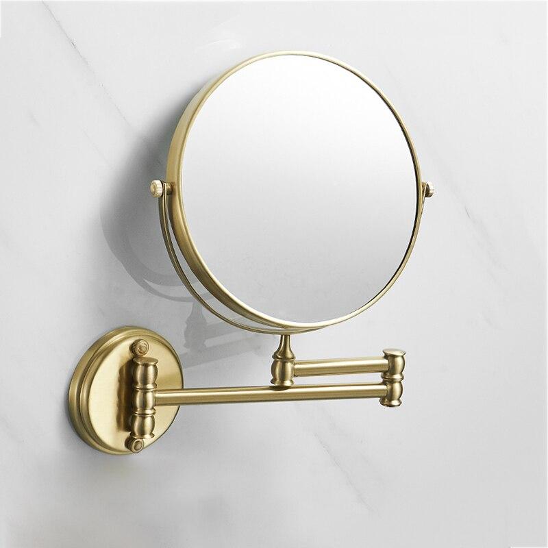 مرآة حمام نحاسية ذهبية ، فرشاة مكياج ، 8 بوصة ، 3 × ، قابلة للطي ، مزدوجة الوجه ، أجهزة الحمام