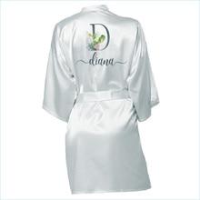 Wedding Dressing Gown Personalised Names BRIDE&Bridesmaid Satin Custom Robes Bridal Party Robes Bridesmaid Robes gift