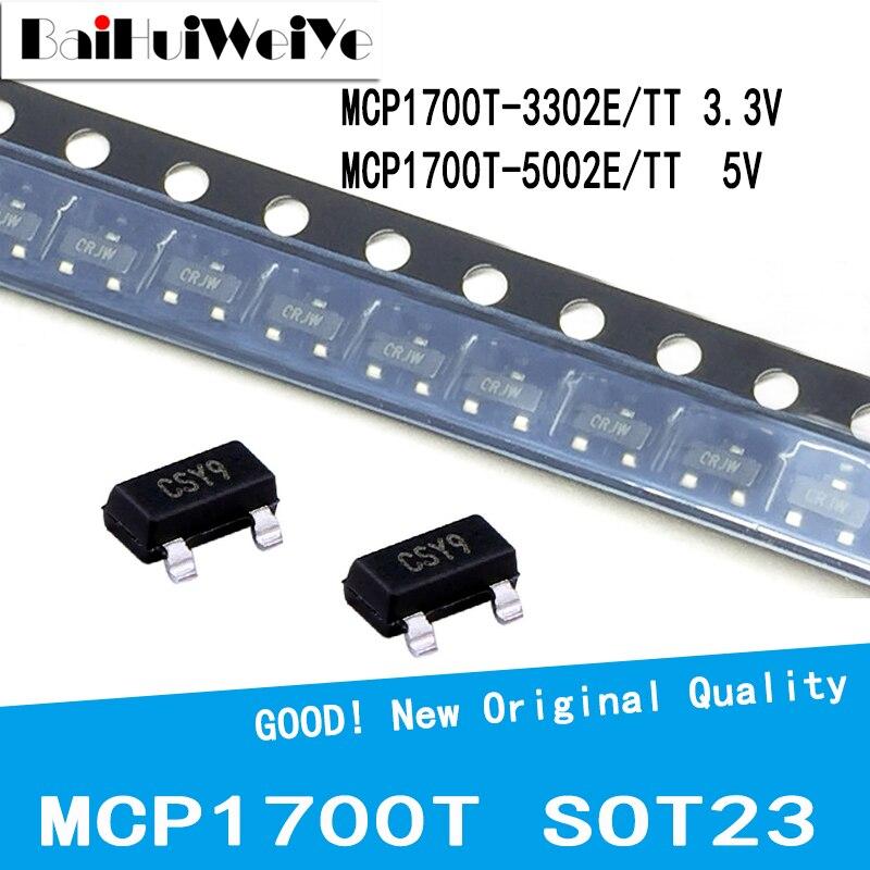 20 шт./лот MCP1700T-3302E/TT 3,3 V MCP1700T-5002E/TT 5V MCP1700T-3302E MCP1700T-5002E MCP1700T SOT23 СОТ-23 SMD