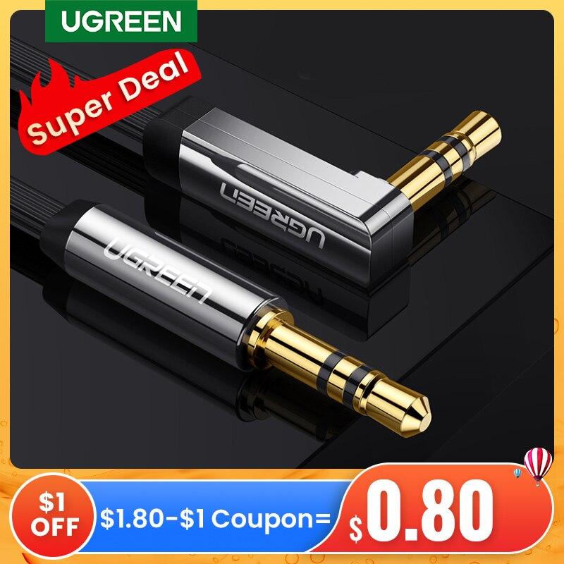 UGREEN-Cable auxiliar de Audio estéreo de 3,5mm para PC, Cable auxiliar de...