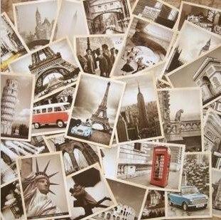 7 упаковок/партия, открытки для студентов, 32 шт./компл., Новая Винтажная архитектурная дорожная открытка с пейзажем, Набор открыток, поздрави...