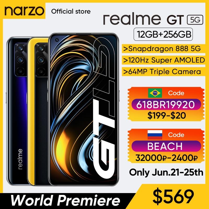 realme GT Qualcomm Snapdragon 888 5G Processor 65W SuperDart Charge 120Hz refresh 6.43