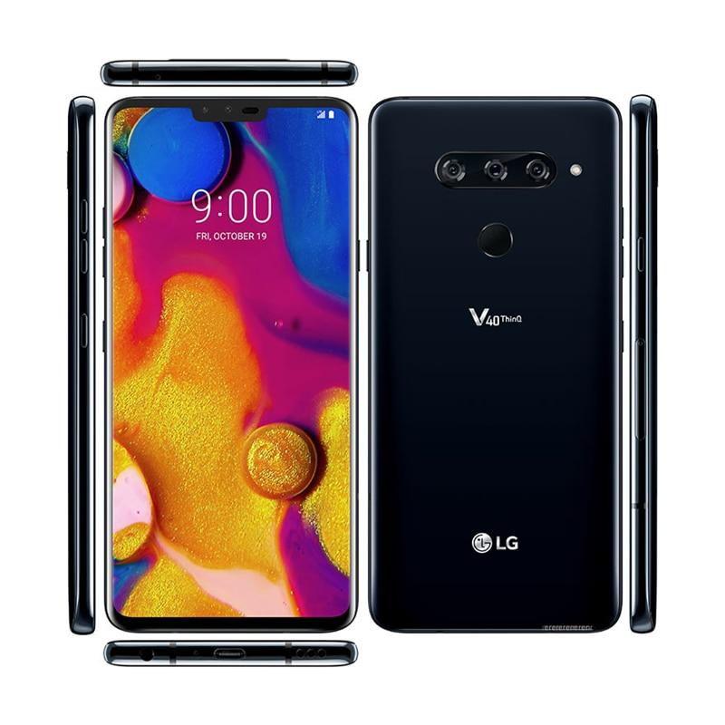 Фото1 - Смартфон LG V40 ThinQ V409N, разблокированный, V409UA, V405EBW, мобильный телефон, Восьмиядерный, экран 6,4 дюйма, 6 ГБ ОЗУ, 64 Гб ПЗУ, 3 + 2 камеры, 16 МП, Android