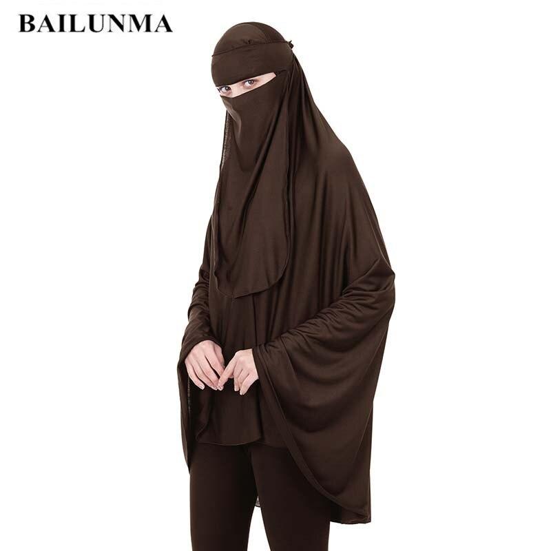 Moda árabe oração vestuário + véu serviço de adoração 2 pcs muçulmano mulher niqab feminino islâmico roupas longo topos baju muçulmano wanita