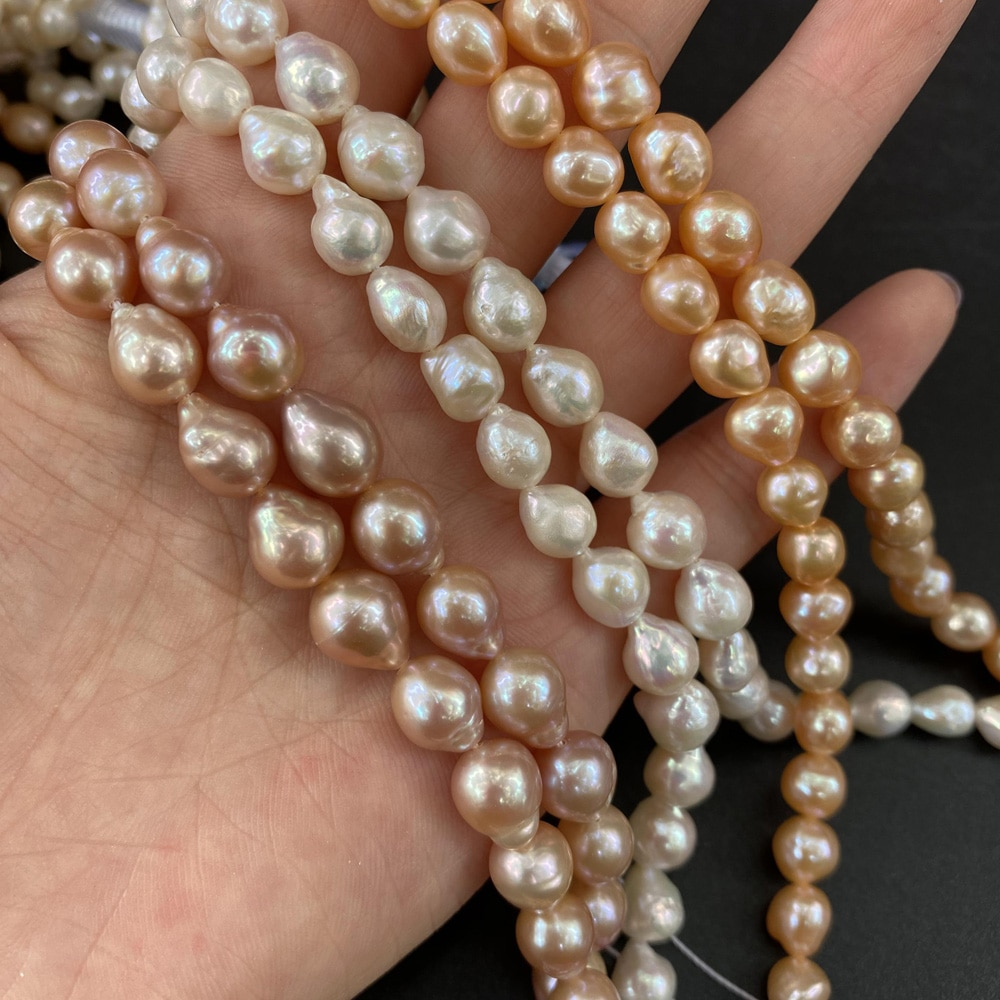 Charm Freshwater Baroque Pearl Beaded Natural Pearls for Jewelry Making DIY Elegant Necklace Bracelet Accessories  - buy with discount