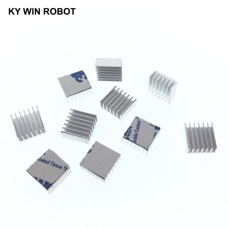 10pcs Computer Cooler Radiator Aluminum Heatsink Heat sink for Electronic Chip dissipation Cooling Pads 14*14*6mm