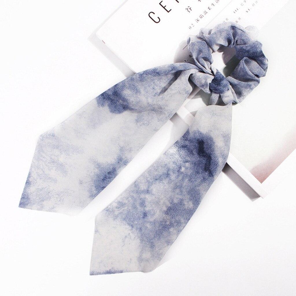 2019 Leisure Fabric Hairband Print Bow Knot Women Hair Ring Head Hoop Girls Headband Schrunchies Pack School Dropshipping 40