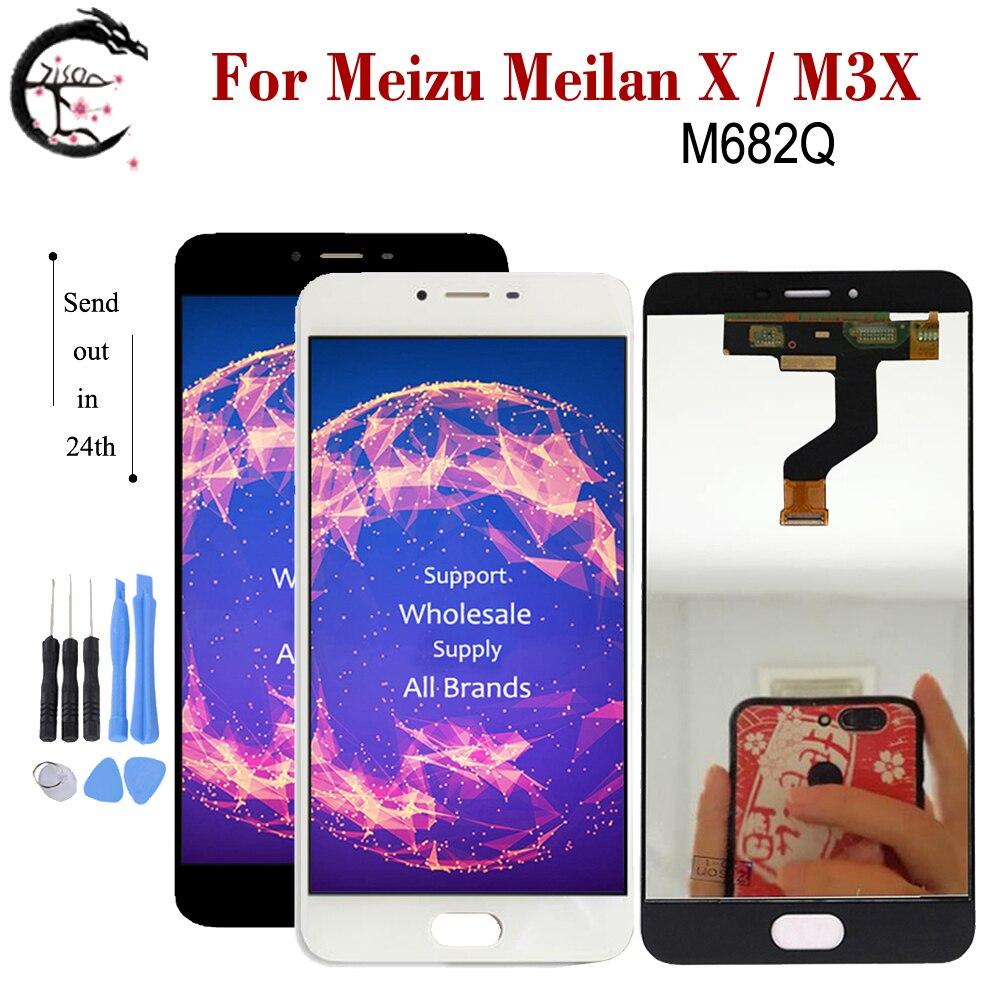 "5,5 ""Nuevo LCD para Meizu Meilan X LCD M3X M682Q pantalla LCD MONTAJE DE digitalizador con pantalla táctil MeilanX reemplazo probado OK"