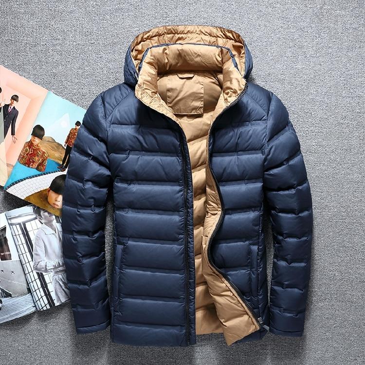 Nueva chaqueta de moda de ocio para hombre de abrigo de invierno...