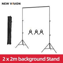 2x2 м 6.5ft * 6.5ft фон рамка светильник подставка + 3 шт. пряди для наращивания + сумка для переноски Фоны стенд студийное комплект